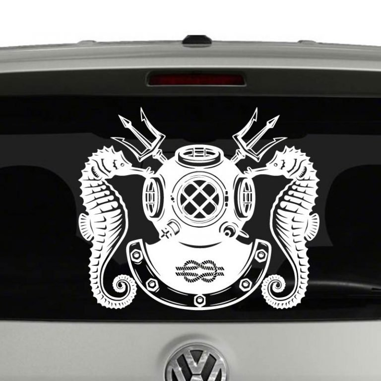 Navy Master Diver Military Badge Vinyl Decal Sticker