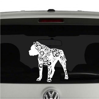 Pitbull Lovers Mandala Puppy Vinyl Decal Sticker
