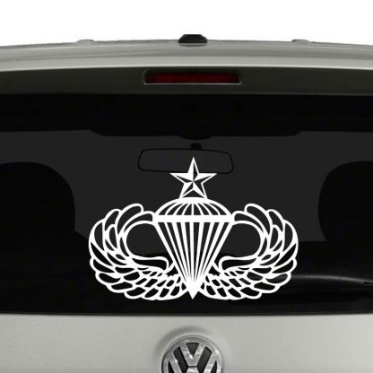 Army Senior Airborne Parachutist Badge Wings Vinyl Decal Sticker