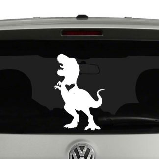 Dinosaur Lovers Tyrannosaurus Rex with Heart Trex Vinyl Decal Sticker