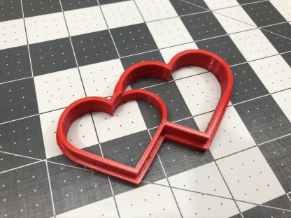 Twin Hearts Shaped Cookie Cutter Valentines Day