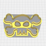 Skull and Cross Bones Jolly Roger Shaped Cookie Cutter