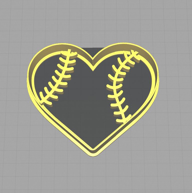Heart Shaped Baseball Cookie Cutter Baseball Threads
