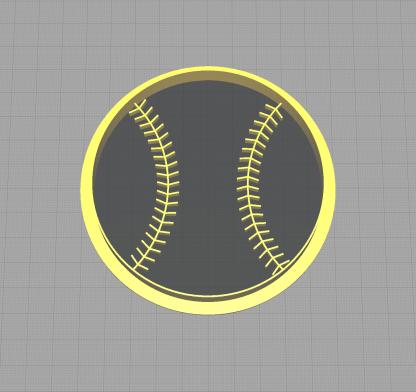 Baseball Shaped Cookie Cutter Little League Parties