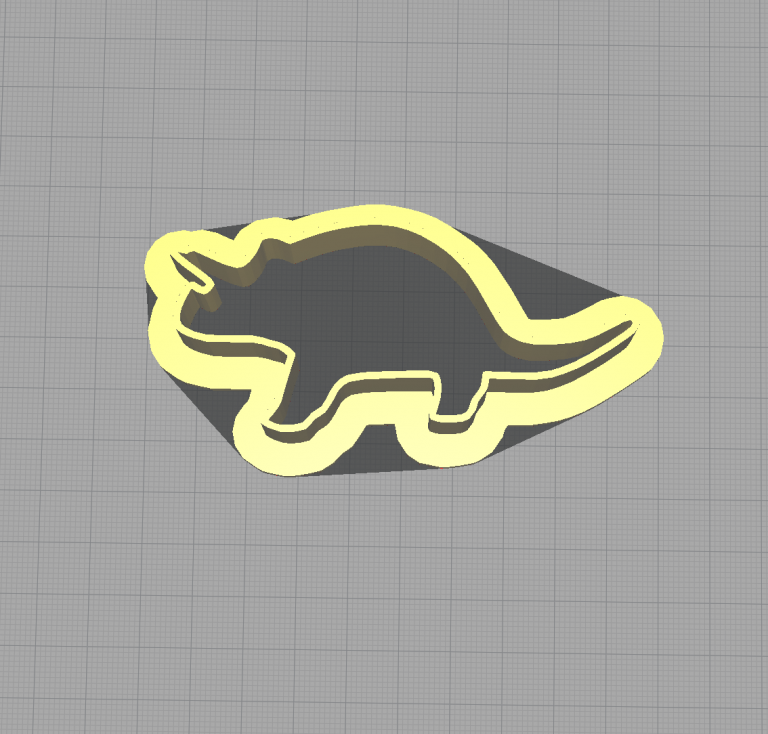Dinosaur Triceratops Shaped Cookie Cutter