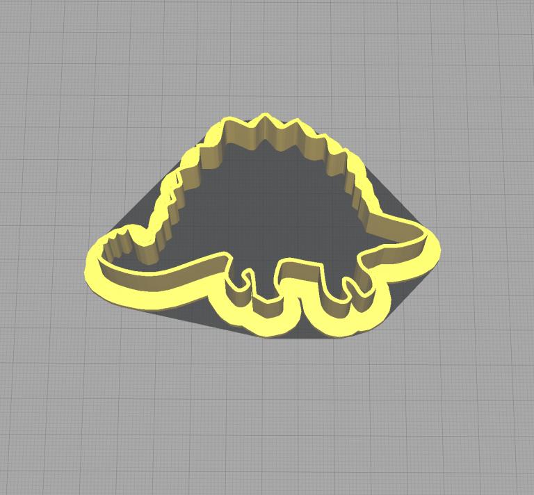 Dinosaur Stegosaurus Shaped Cookie Cutter