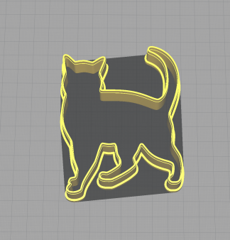 Cat Kitten Feline Waling Shaped Cookie Cutter