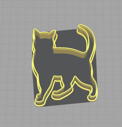 Cat Kitten Feline Waling Shaped Cookie Cutter