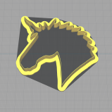 Unicorn Head Shaped Cookie Cutter