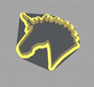 Unicorn Head Shaped Cookie Cutter