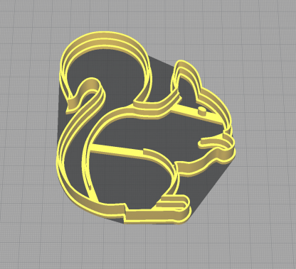 Squirrel Eating a Nut Shaped Cookie Cutter