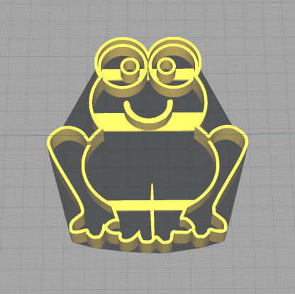 Happy Frog Sitting Froggy Shaped Cookie Cutter