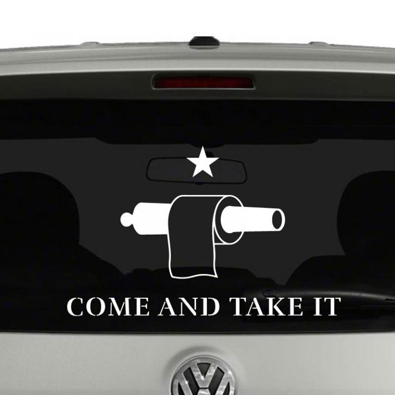 Toilet Paper Gonzales Come and Take It Flag Vinyl Decal Sticker