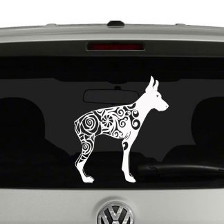 Doberman Pinscher Lovers Mandala Dog Puppy Vinyl Decal Sticker