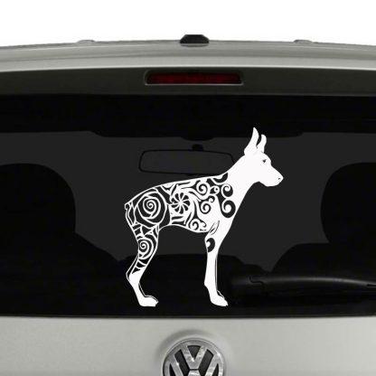 Doberman Pinscher Lovers Mandala Dog Puppy Vinyl Decal Sticker