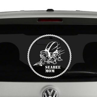 Navy Seabee Mom, Dad, Wife, Etc Navy Seabees Vinyl Decal Sticker