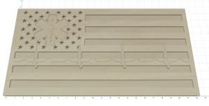 Wooden Carved American Flag Medical EMT Nurse Doctor EKG