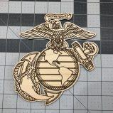 Marine EGA Eagle Globe and Anchor Laser Engraved and Cutout
