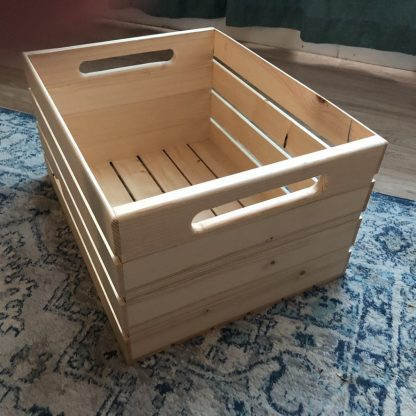 Handcrafted Wooden Record Crate