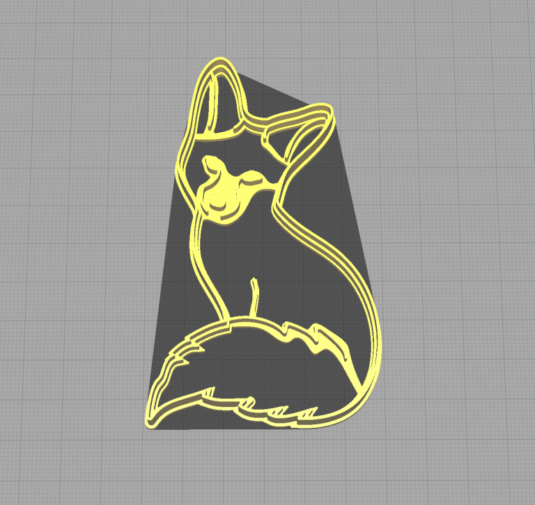 Fox Sitting Animal Shaped Cookie Cutter