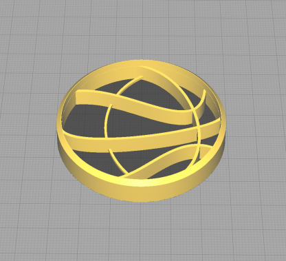 Basketball Shaped Cookie Cutter