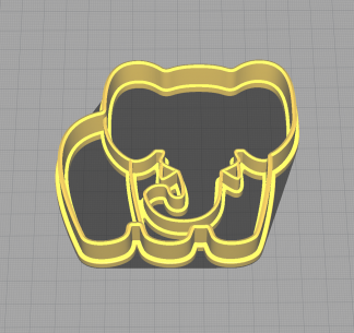 Elephant Shaped Animal Cookie Cutter