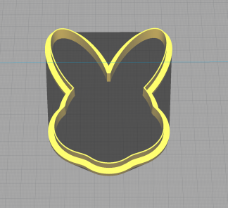 Easter Bunny Rabbit Head Easter Shaped Cookie Cutter