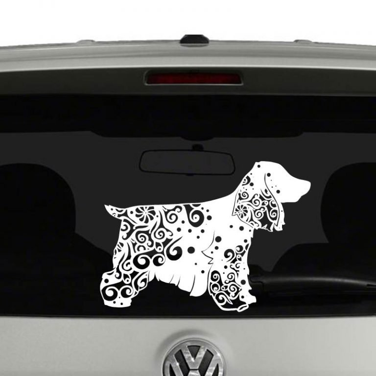 Cocker Spaniel Dog Lovers Mandala Puppy Vinyl Decal Sticker