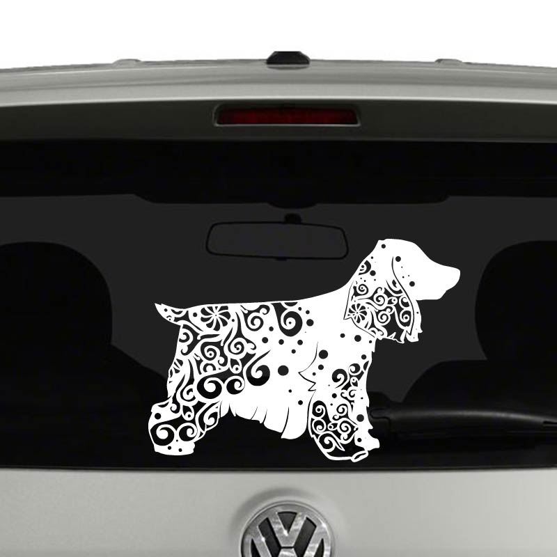 Cocker Spaniel Dog Lovers Mandala Puppy Vinyl Decal Sticker