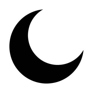 Crescent Moon - Laser Cut Out Unfinished Wood Shape Craft Supply