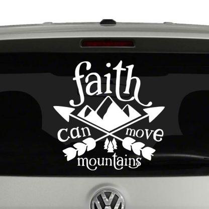 Faith Can Move Mountains Vinyl Decal Sticker