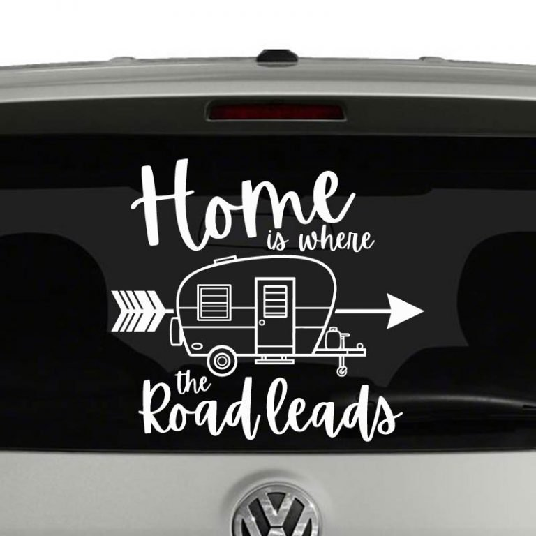 Home is Where the Road Leads Vinyl Decal Sticker