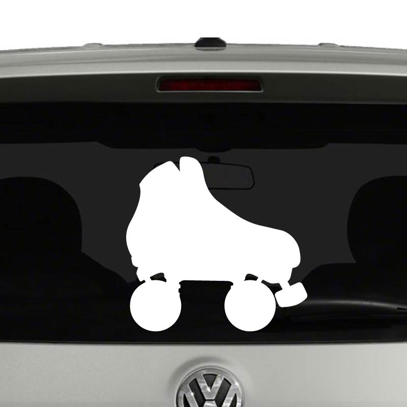 Roller Skate Silhouette Skating Skater Vinyl Decal Sticker