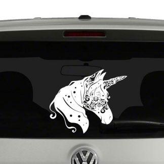 Unicorn Head Fantasy Mandala Vinyl Decal Sticker