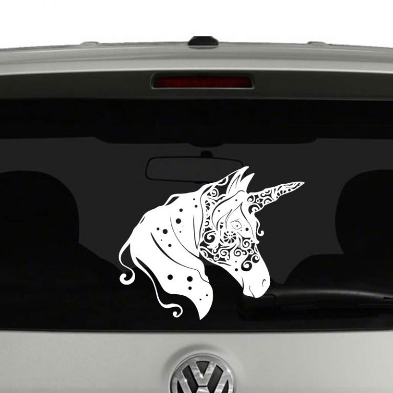 Unicorn Head Fantasy Mandala Vinyl Decal Sticker