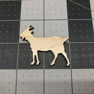 Goat - Laser Cut Out Unfinished Wood Shape Craft Supply