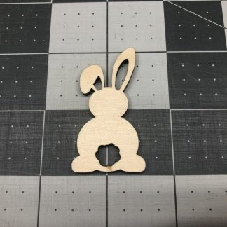 Easter Bunny Cotton Tail - Laser Cut Out Unfinished Wood Shape Craft Supply