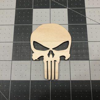Skull Punisher Like - Laser Cut Out Unfinished Wood Shape Craft Supply