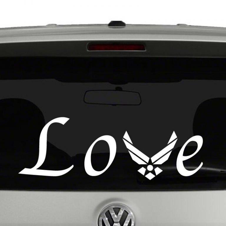 Air Force Love Vinyl Decal Sticker