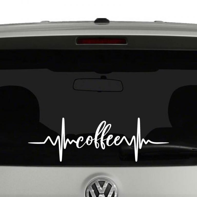 Coffee Heartbeat for Coffee Lovers Vinyl Decal Sticker