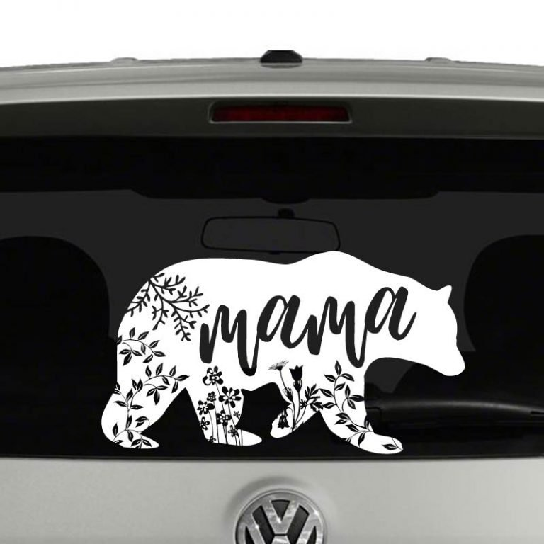 Mama Bear Floral Mandala Vinyl Decal Sticker