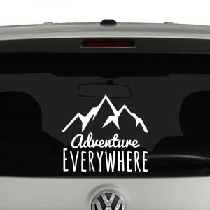 Adventure Everywhere Mountains Outdoors Lovers Vinyl Decal Sticker