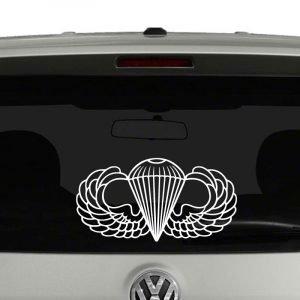 Army Airborne Parachutist Badge Wings Vinyl Decal Sticker