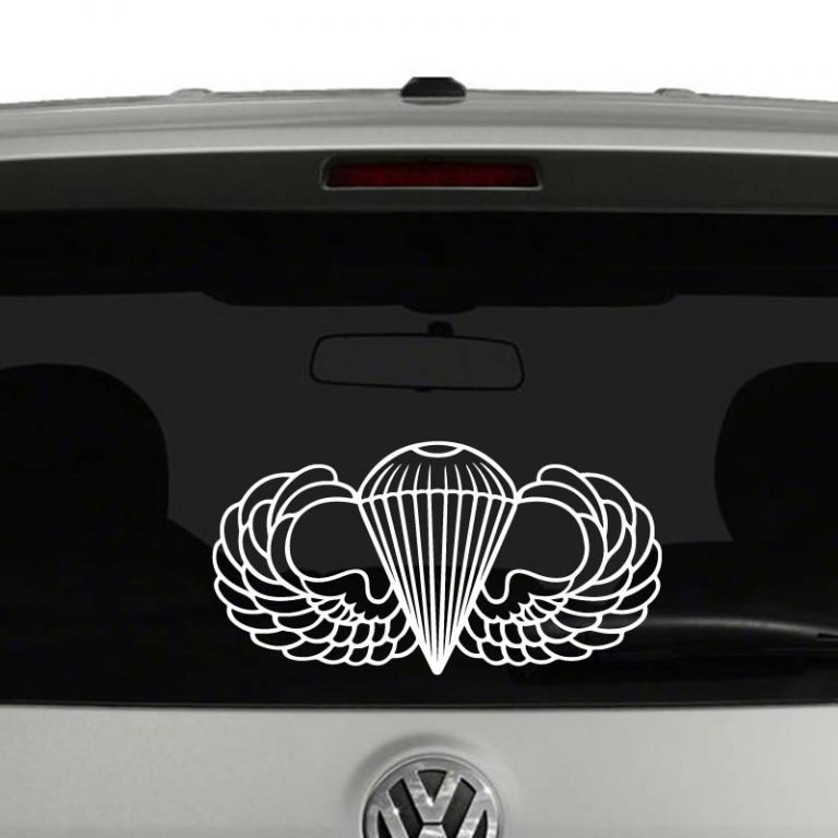 Army Airborne Parachutist Badge Wings Vinyl Decal Sticker