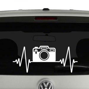Heartbeat Camera Photography Vinyl Decal