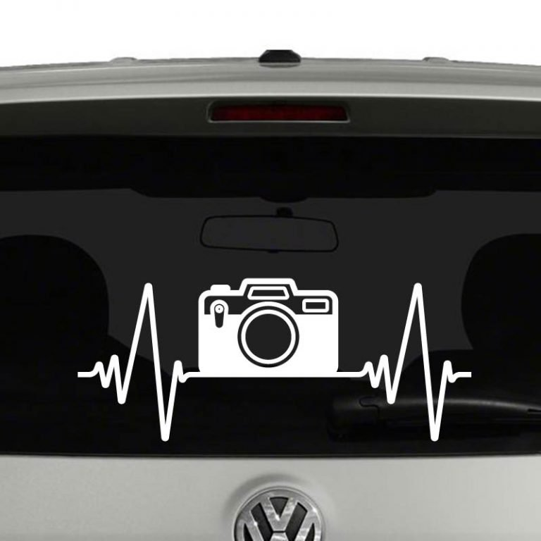 Heartbeat Camera Photography Vinyl Decal