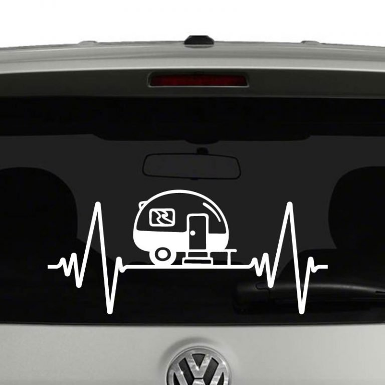 Heartbeat Camper Camping RV Vinyl Decal
