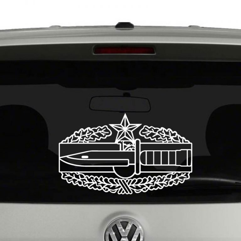 Army Combat Action Badge 2nd Award Vinyl Decal Sticker