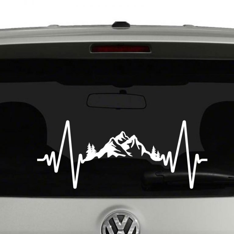 Heartbeat Outdoors Adventure Mountains Camping Vinyl Decal Sticker