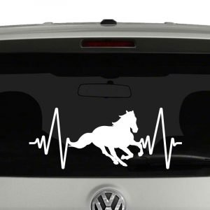 Horse Heartbeat Horse Lovers Riders Vinyl Decal Sticker